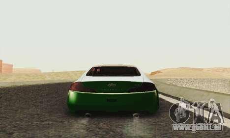 Infiniti G35 Hellaflush für GTA San Andreas rechten Ansicht