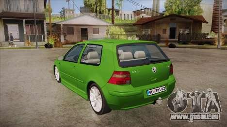 Volkswagen Golf Mk4 pour GTA San Andreas sur la vue arrière gauche