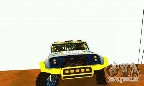 UAZ 31514 Rally pour GTA San Andreas sur la vue arrière gauche