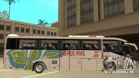 Higer KLQ6129QE - Super Five Transport S 025 für GTA San Andreas zurück linke Ansicht