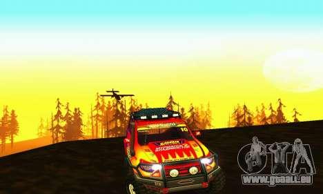 UAZ Patriot essai pour GTA San Andreas vue intérieure