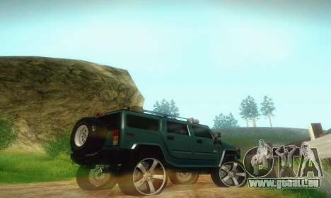Hummer H2 Monster für GTA San Andreas Rückansicht