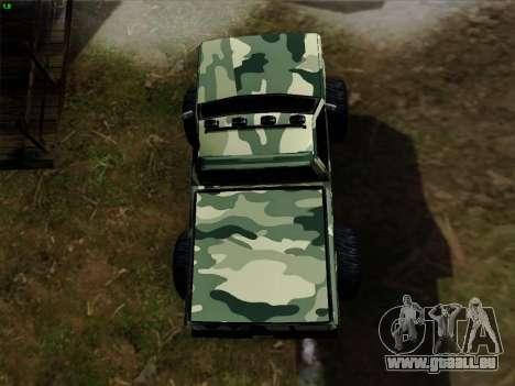 Camouflage pour Monster pour GTA San Andreas vue de dessus