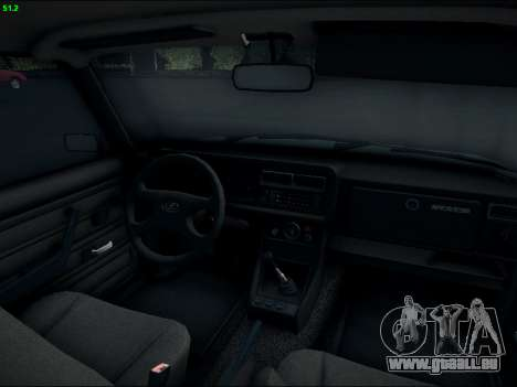LADA 2107 Riva pour GTA San Andreas vue intérieure