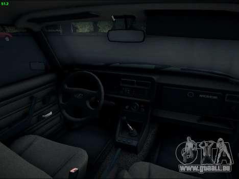 LADA 2107 Riva für GTA San Andreas Innenansicht