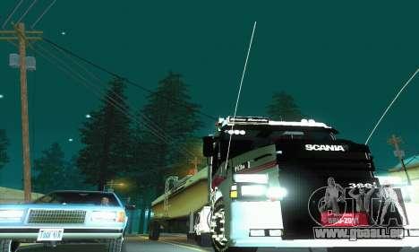 TopLine Scania 113 h 360 pour GTA San Andreas vue intérieure