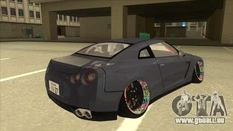 Nissan GT-R R35 Camber Killer für GTA San Andreas rechten Ansicht