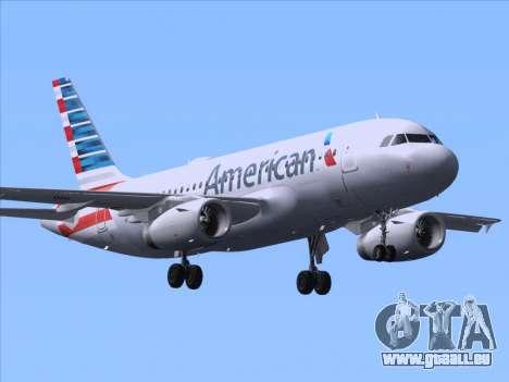Airbus A319-112 American Airlines pour GTA San Andreas sur la vue arrière gauche