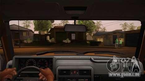 Nissan Patrol Y60 pour GTA San Andreas vue intérieure