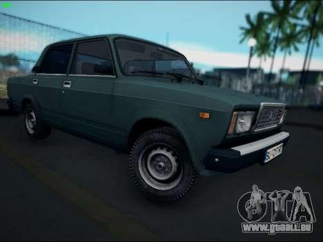 LADA 2107 Riva pour GTA San Andreas sur la vue arrière gauche