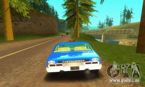 Fasthammer Taxi pour GTA San Andreas vue arrière