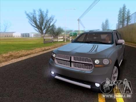 Dodge Durango Citadel 2013 pour GTA San Andreas laissé vue