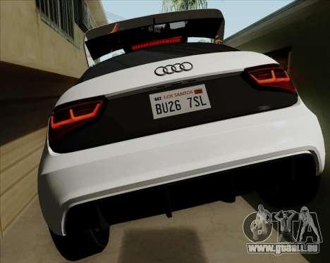 Audi A1 Clubsport Quattro pour GTA San Andreas vue arrière