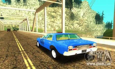 Fasthammer Taxi pour GTA San Andreas sur la vue arrière gauche