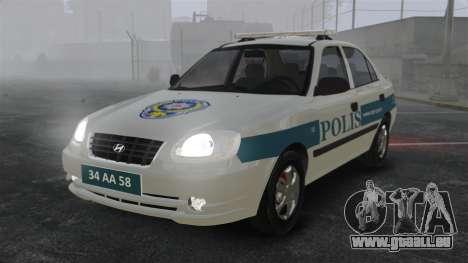 Hyundai Accent Admire Turkish Police [ELS] für GTA 4
