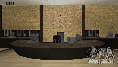 Retekstur l'intérieur de l'hôtel de ville pour GTA San Andreas quatrième écran