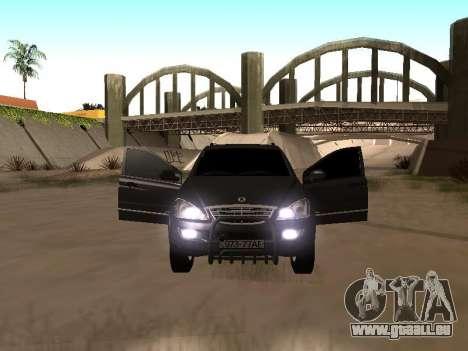 SsangYong New Kyron 2013 pour GTA San Andreas laissé vue