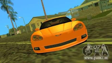 Chevrolet Corvette C6 pour une vue GTA Vice City de la gauche