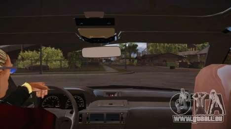 Le script CLEO : vue depuis la cabine pour GTA San Andreas troisième écran
