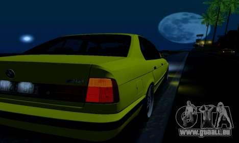 BMW M5 E34 IVLM v2.0.2 pour GTA San Andreas vue de dessous