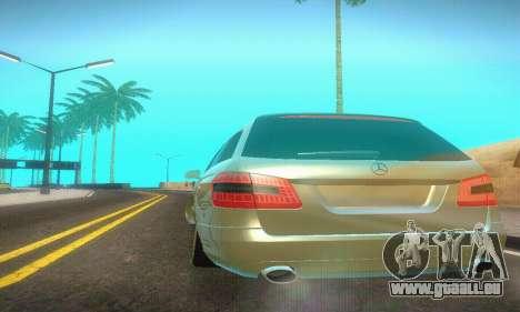 Mercedes-Benz E350 Wagon pour GTA San Andreas vue intérieure