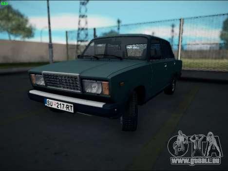 LADA 2107 Riva pour GTA San Andreas laissé vue