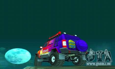 UAZ Patriot essai pour GTA San Andreas vue de dessous