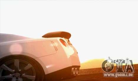 Nissan GT-R Carbon pour GTA San Andreas sur la vue arrière gauche
