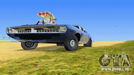 Plymouth Barracuda Supercharger pour GTA Vice City vue arrière