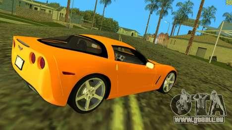 Chevrolet Corvette C6 pour une vue GTA Vice City de la droite