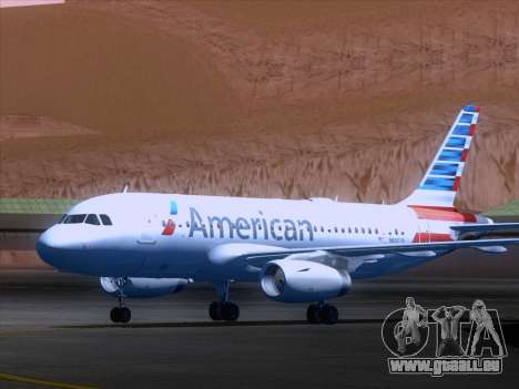 Airbus A319-112 American Airlines für GTA San Andreas linke Ansicht