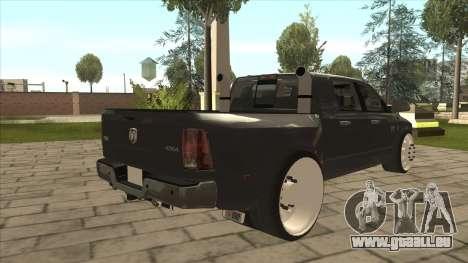 Dodge Ram Laramie Low pour GTA San Andreas vue de droite