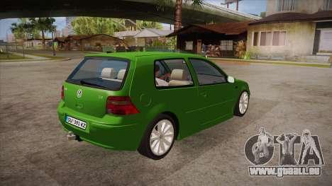 Volkswagen Golf Mk4 pour GTA San Andreas vue de droite