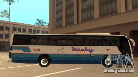 Husky Tours 2288 pour GTA San Andreas sur la vue arrière gauche