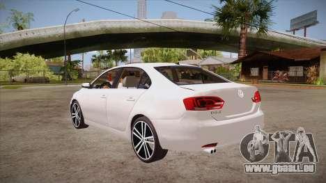 VW Jetta GLI 2013 pour GTA San Andreas sur la vue arrière gauche