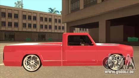 Modified Sadler pour GTA San Andreas sur la vue arrière gauche