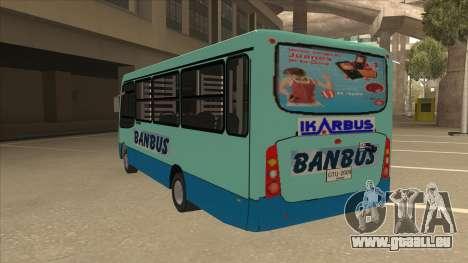 BANBUS Bus Srb. für GTA San Andreas Rückansicht