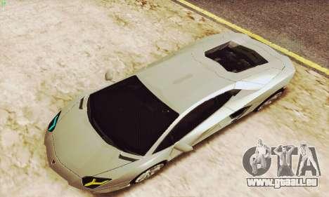 Lamborghini Aventador LP700 für GTA San Andreas Innen