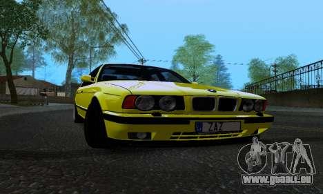 BMW M5 E34 IVLM v2.0.2 pour GTA San Andreas vue intérieure
