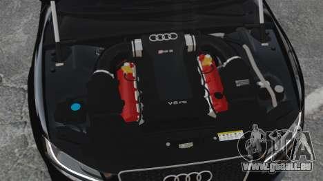 Audi RS5 2011 v2.0 pour GTA 4 est une vue de l'intérieur