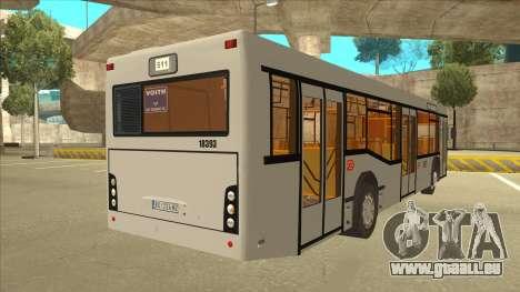 511 Sremcica Bus pour GTA San Andreas vue de droite