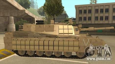 M69A2 Rhino Desierto für GTA San Andreas zurück linke Ansicht