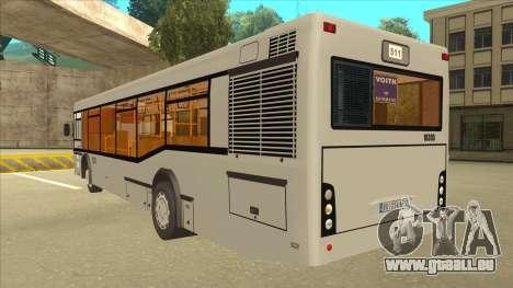 511 Sremcica Bus pour GTA San Andreas vue arrière