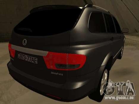 SsangYong New Kyron 2013 pour GTA San Andreas sur la vue arrière gauche