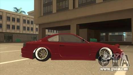 Nissan Silvia S18-5 pour GTA San Andreas sur la vue arrière gauche