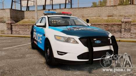 Ford Taurus 2010 Police Interceptor Detroit pour GTA 4