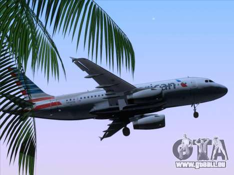 Airbus A319-112 American Airlines für GTA San Andreas obere Ansicht