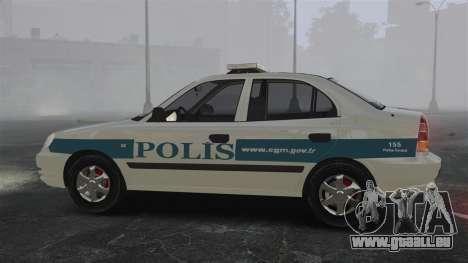 Hyundai Accent Admire Turkish Police [ELS] pour GTA 4 est une gauche
