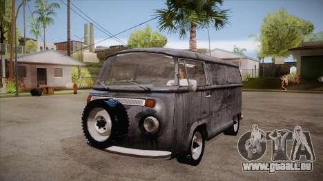 Volkswagen Transporter T2 Custom für GTA San Andreas Innenansicht