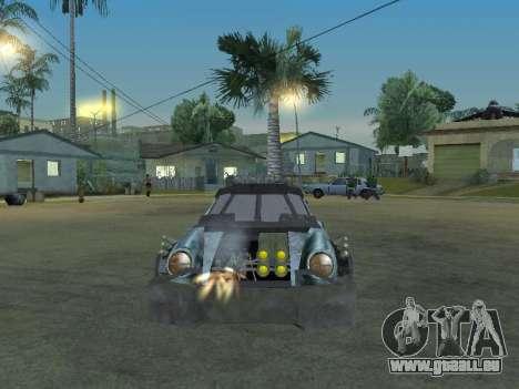Porsche 911 Death Race für GTA San Andreas Rückansicht
